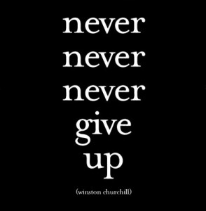 never give up learn english